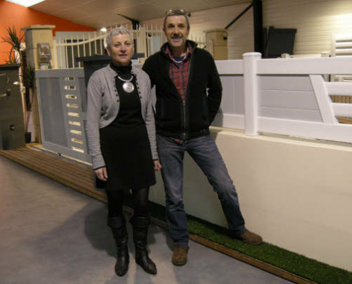 Pierrick et Véronique Le Bollan dans leur show room.