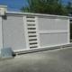 portail PVC coulissant bi couleur