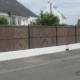 Clôture en PVC marron